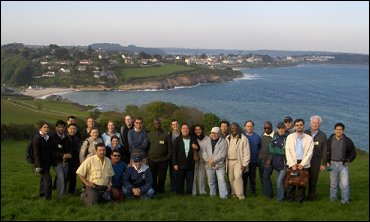 delegates on the cliff top in Falmouth