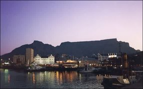The Waterfront with Table Mountain behind